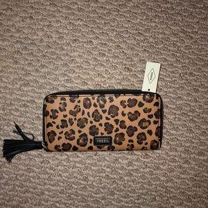 Fossil cheetah leopard print wallet